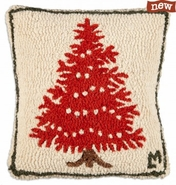 "Popcorn Tree 14"" Hooked Wool Pillow"