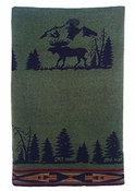 Rustic Moose Throw
