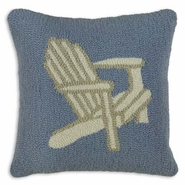 Seaside Chair Hooked Wool Pillow - 18""