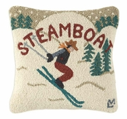 Steamboat Hooked Wool Pillow - 18""