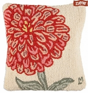 "Zinnia 18"" Hooked Wool Pillow"
