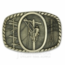 Solid Brass Lineman's Belt Buckle