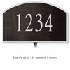 Cast Aluminum Plaque Arched Small Black Silver Characters Lawn Mounted