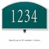Cast Aluminum Plaque Arched Small Green Silver Characters Lawn Mounted