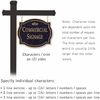 Commercial Sign Classic Black Post Black Sign Gold Characters Fountain Emblem 2 Sided