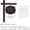 Commercial Sign Classic Black Post Black Sign Gold Characters Infinity Emblem 2 Sided