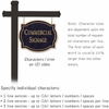 Commercial Sign Classic Black Post Black Sign Gold Characters No Emblem 2 Sided