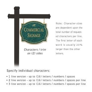 Commercial Sign Classic Black Post Jade Green Sign Gold Characters Daisy Emblem 2 Sided