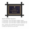 Commercial Sign Rectangular Black Post Black Sign Gold Characters Shell Emblem 1 Sided
