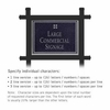Commercial Sign Rectangular Black Post Black Sign Silver Characters Grid Emblem 1 Sided