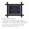 Commercial Sign Rectangular Black Post Black Sign Silver Characters No Emblem 1 Sided