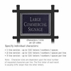 Commercial Sign Rectangular Black Post Black Sign Silver Characters No Emblem 2 Sided