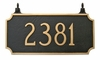 Double-Sided Princeton Hanging Plaque (7.25and quot; x 15.75and quot;)