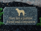 Granite Pet Memorial Plaques
