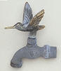 Hummingbird In Flight Faucet (Solid Brass) - Verdigris Finish
