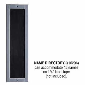Name Directory Aluminum Finish