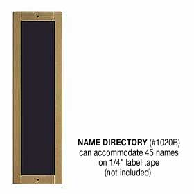 Name Directory Brass Finish