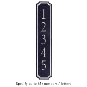 Signature Series Plaque Column Black Silver Characters No Emblem Surface Mounted
