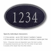 Signature Series Plaque Oval Large Black Silver Characters No Emblem Surface Mounted