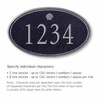 Signature Series Plaque Oval Large Black Silver Characters Shell Emblem Surface Mounted