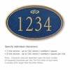 Signature Series Plaque Oval Large Cobalt Blue Gold Characters Fountain Emblem Surface Mounted