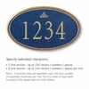 Signature Series Plaque Oval Large Cobalt Blue Gold Characters Infinity Emblem Surface Mounted