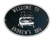 Standard Size Grill Hawthorne Wall Plaque - (2 Lines)