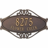 Standard Size Hackley Fretwork Wall or Lawn Plaque - (1 or 2  Lines)
