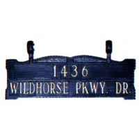 Two Line Ladder Rest Address Sign