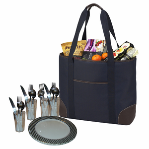 Classic Insulated Picnic Tote for Four  - Click to enlarge
