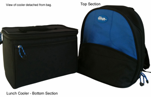 Backpack w/ Removable Insulated Cooler Section - Click to enlarge