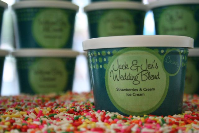 Individual Ice Cream Party Cups - Wedding or Wedding Shower