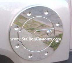 Chrome Billet Fuel Door for the H3 Hummer 06-UP