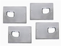 H2 Smooth Chrome Billet Interior Door Handle Backing Plate Set
