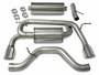 "H3 Hummer Corsa Performance Exhaust 2006-07 2.5"" Dual Rear Exit"
