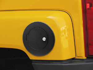 Hummer H3 BLACK Billet Locking Fuel Door