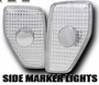 Hummer H3 Front Side Marker Light Lense Set (Clear)