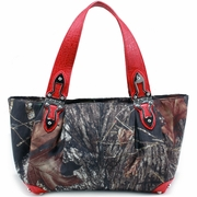 Mossy Oak Camo Croco Hinge Handle Shoulder Bag (2228-RD)