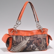 Camouflage Studded Shoulder Bag w/Chain Handles (52899B-OR)