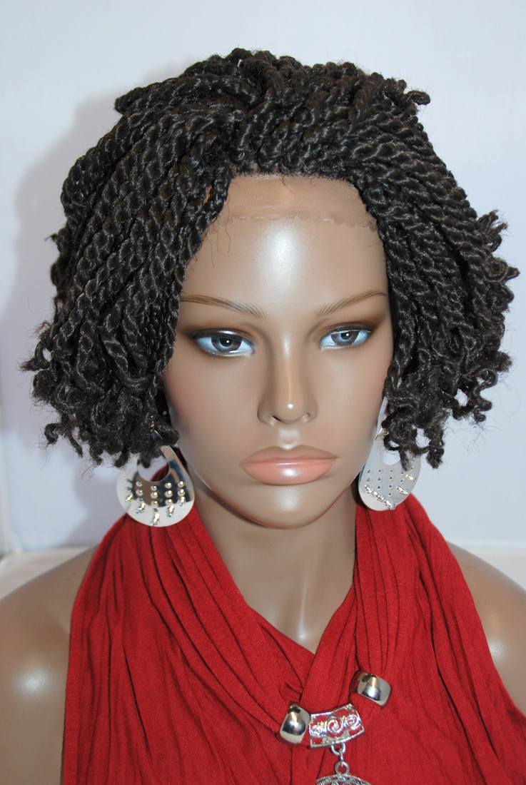02 imgsrc.ru nudista Fully hand braided lace front wig - Kinky Twists Color #4 in 6 Inches .