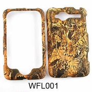 HTC WILDFIRE Camo Cell Phone Cover Forest Leaves