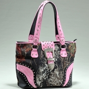 Mossy Oak Camo Studded Tote Bag wBuckle Accent (53340-PK)