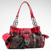 Mossy Oak Camouflage buckle accent shoulder handbag (51747B-RD)