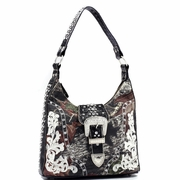 Mossy Oak Rhinestone Buckle Hobo Bag (40019-BK)