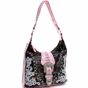 Mossy Oak Rhinestone Buckle Hobo Bag (40019-PK)