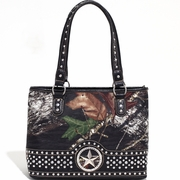 Mossy Oak Studded Camouflage Shoulder Bag w/Star (58800-CF)