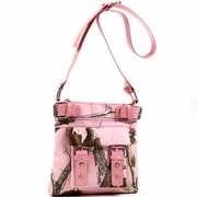 Realtree Camouflage Messenger Bag - Light Pink