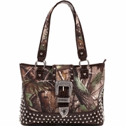 Realtree Camo Studded Tote bag w/Buckle Accent (51287A-LC)