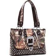 Realtree Camo Studded Tote Bag w/Buckle Accent (51287A-MAXLC)