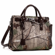 Realtree Camouflage Satchel with Lock and Tassel Accents (500667A-LC)